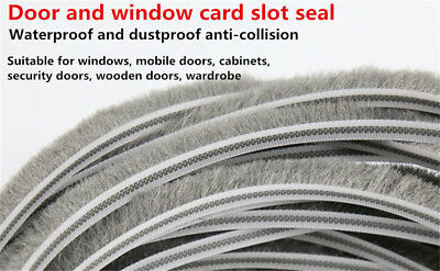 3M/5M Weather Draught Excluder Brush Strip Window Door Seal Tape Self-adhesive