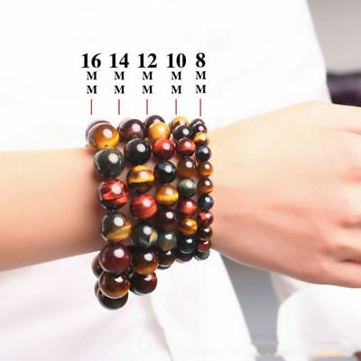 Multi-Color AAA Royal Tiger Eye Buddha Stretch Bracelet Natural Stone Jewelry