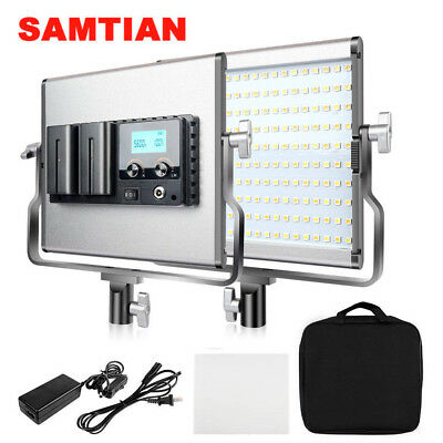 SAMTIAN Bi-Color LED Video Light 3200-5600K CRI96 for Shooting Studio Photograph