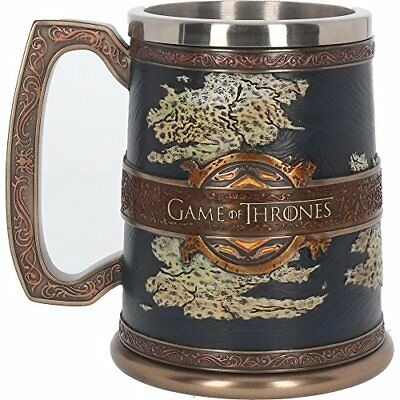 The Seven Kingdoms Tankard 14cm - Collectable Game of Thrones Mug Westeros Map