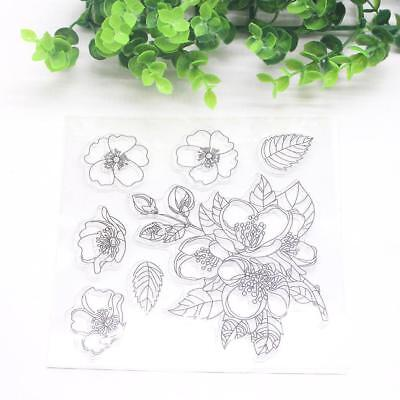 Flower Transparent Silicone Stamp Clear DIY Scrapbooking Craft Stamps heiß