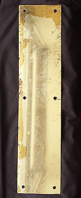 "3.5""x15"" Distressed Vintage Solid Brass Patina Swinging Pivot Door Push Plate"