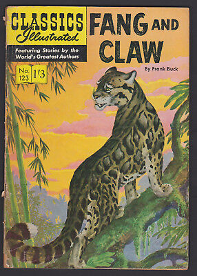 Vintage British Classics Illustrated:FANG AND CLAW/BUCK No.123 HRN133 1/3