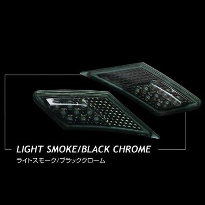 Valenti Jewel LED Side Marker- Light Smoke/ Black Chrome