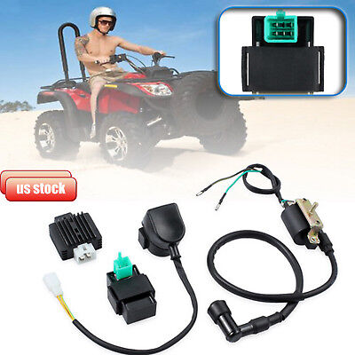 For Chinese ATV Quad 50cc 70 90cc 110 cc Ignition Coil CDI Box Rectifier Relay