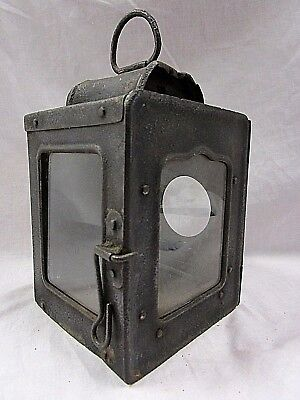 WW1 AUSTRIAN / GERMAN TRENCH Bunker LANTERN WITH  GLASS SHADES WORLD WAR ONE