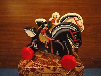 """Fisher Price """"Prancing Horses"""", commemorative toy, Toy Fest 1990, NIB"""