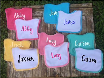 Personalised Baby Bib Custom Name or Quote Baby