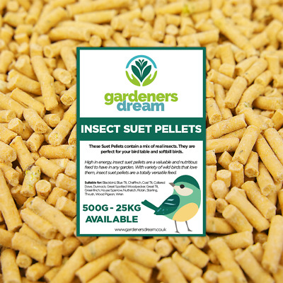GardenersDream Insect Suet Pellets - High Energy Feed Wild Bird Garden Food