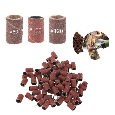 Sanding Sand 80 120 180 Bands Grit Nail Electric Drill File Machine Bits E Drill