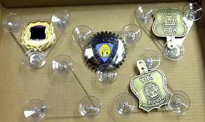 Suction Cup Holder for Police PBA or FOP Shield & Badge  *SMALL*  2018
