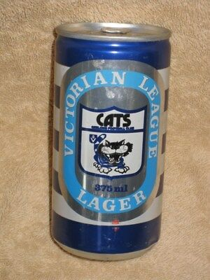 GEELONG CATS VFL BEER CAN EARLY 1980s memorabilia afl