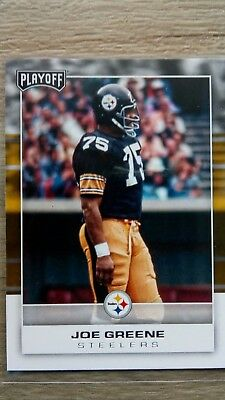 Nfl trading cards, Joe Greene, Pittsburgh Steelers, Playoff 2017