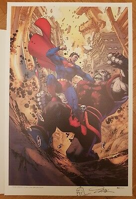 Jim Lee - ACTION COMICS #1000 litho limited to 100 copies signed and remarked