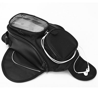 Waterproof Motor Tank Bag Oil Fuel Tank Bag Magnetic Motorbike Saddle Backpack