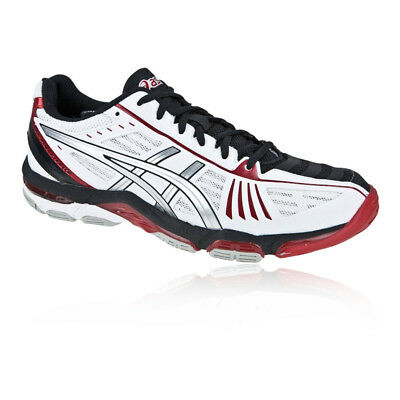 Asics Mens Gel-Volley Elite 2 Court Shoes Black White Sports Netball Trainers