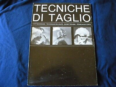 Vintage 1960's Italian Hairstyling Book Techniche Di Taglio Hair Techniques