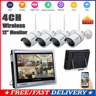 4CH 1080P HD 2.0MP Wireless WIFI Security NVR KIT System + 4x IP Camera Outdoor