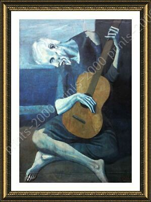 The Old Guitarist by Pablo Picasso | Framed canvas | Wall art HD paint poster