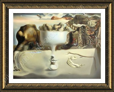 Apparition Of Face Fruit Dish by Salvador Dali   Framed canvas   Wall art