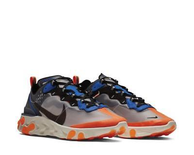 detailed look d9acd 1d275 Nike React Element 87 Blue Orange Aq1090 004 Limited Rare Uk 7 8 9 10 11