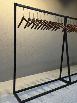 Clothing retail shop garment display rack metal