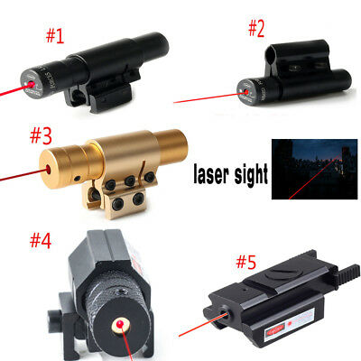 Compact Red Dot Laser Sight Set Tactical Picatinny Weaver Rail Mount Pistol