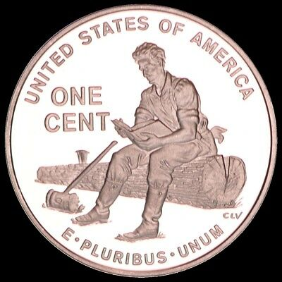 """2009 S Lincoln """"Formative Years"""" Penny PROOF US Mint (with Significant Toning)"""