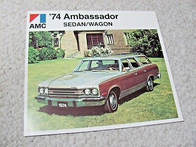 1974 Canadian Amc Ambassador Sales Brochure...