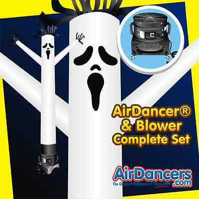 20ft Spooky Halloween Ghost AirDancer® & Blower Complete Air Dancer Set