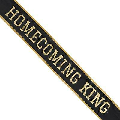Shindigz School Homecoming King Sash Black/Gold