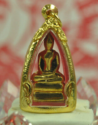 LP sothorn GOLD LEKLAI Thong Pla Lai Powerful Lucky Thai Amulet lek lai Pendant