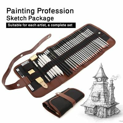 Professional Sketching Drawing Kit Set Wood Pencil Pencil Bags For Painter 39pcs
