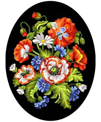 Collection D'Art Printed Tapestry Canvas - Flowers