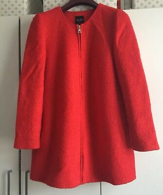 New Look Maternity Red Wool Coat Size 12