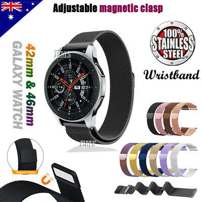 Samsung Galaxy Watch 42mm 46mm Replacement Magnetic Milanese Stainless Band Loop
