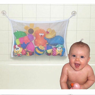 Kid's Bath Toy Storage Tidy Net Suction Cup Bag Mesh Shower Bathroom Organiser