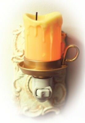 Victorian Trading Co. Drippy Old Candle Nightlight with Warm Glow