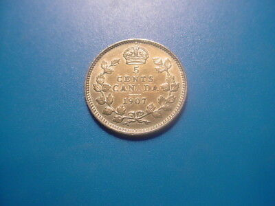 Canada - Silver - 1907 5-Cents In Very Nice Condition