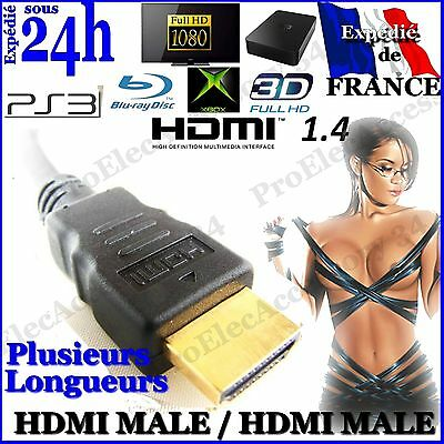 Cable HDMI 1.4V Ethernet PS3 PS4 PLAYSTATION XBox HD TV 3D 1080P 1.5m 2m 3m 5m