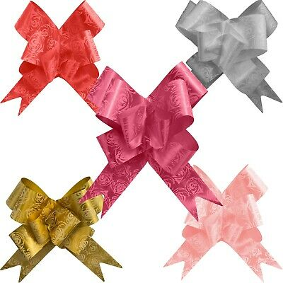 45mm rose pattern pull bows for gift wrapping hampers gifts Christmas decoration