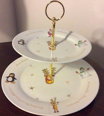 Christmas 2 Tier Cake Stand ideal for High Teas or Chrismas & New year Parties