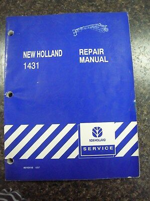NEW HOLLAND 1431 Mower-Condititioner Operator's Manual, 42143111 12