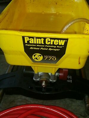 Wagner Paint Crew Airless Paint Sprayer Model 770 used twice