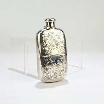 Antique Tiffany & Co. Sterling Silver Whiskey or Liquor Hip Flask - CBT