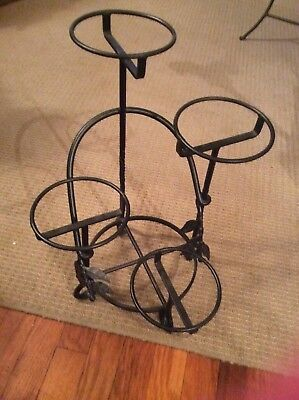 Iron table top plant stand
