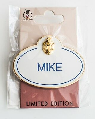 Mike LE 250 Disney Anniversary Name Tag Cast Member Pin New Limited