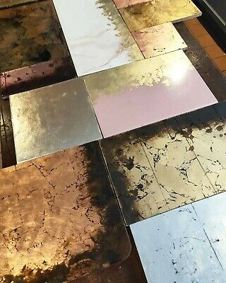 Gold, brass, copper, silver kitchen worktop counter, resin sealed bespoke