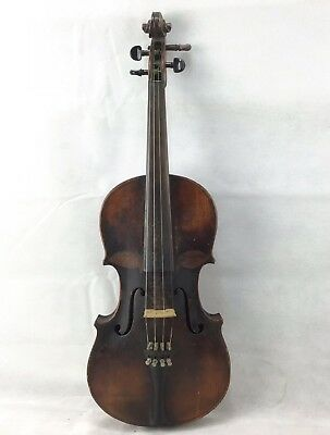 Antique Vintage Violin With Unusual Marking On Front.