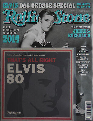 Elvis Presley - Rolling Stone Magazin mit Vinyl-Single und CD - Nr. 243 / 2015